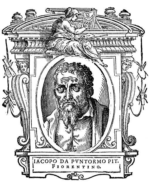 Il Pontormo in un'illustrazione dalle Vite di Vasari