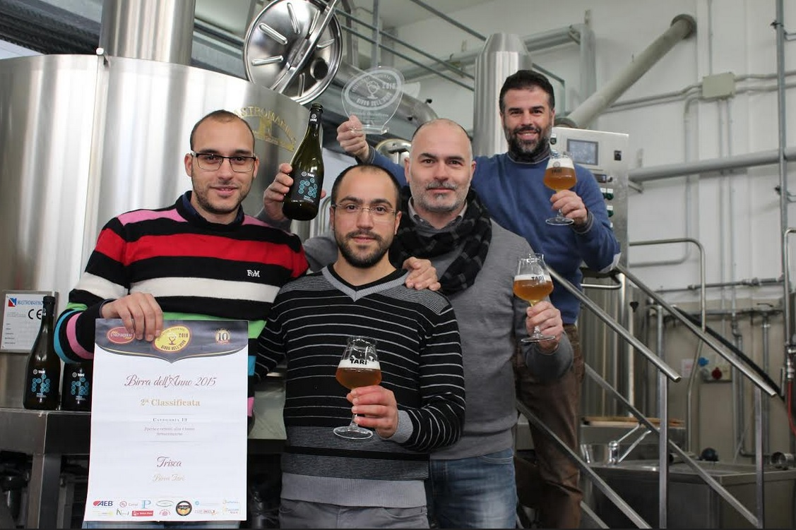 Lo staff del birrificio Tarì di Modica