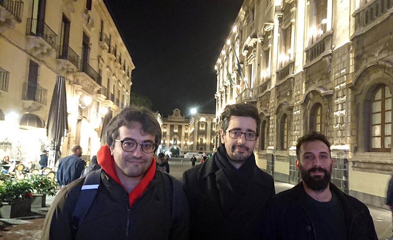 Da sinistra Rosario Battiato, Giovanni Fazio e Gaetano Schinocca