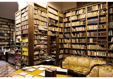 La libreria Prampolini come si presentava nel 2014