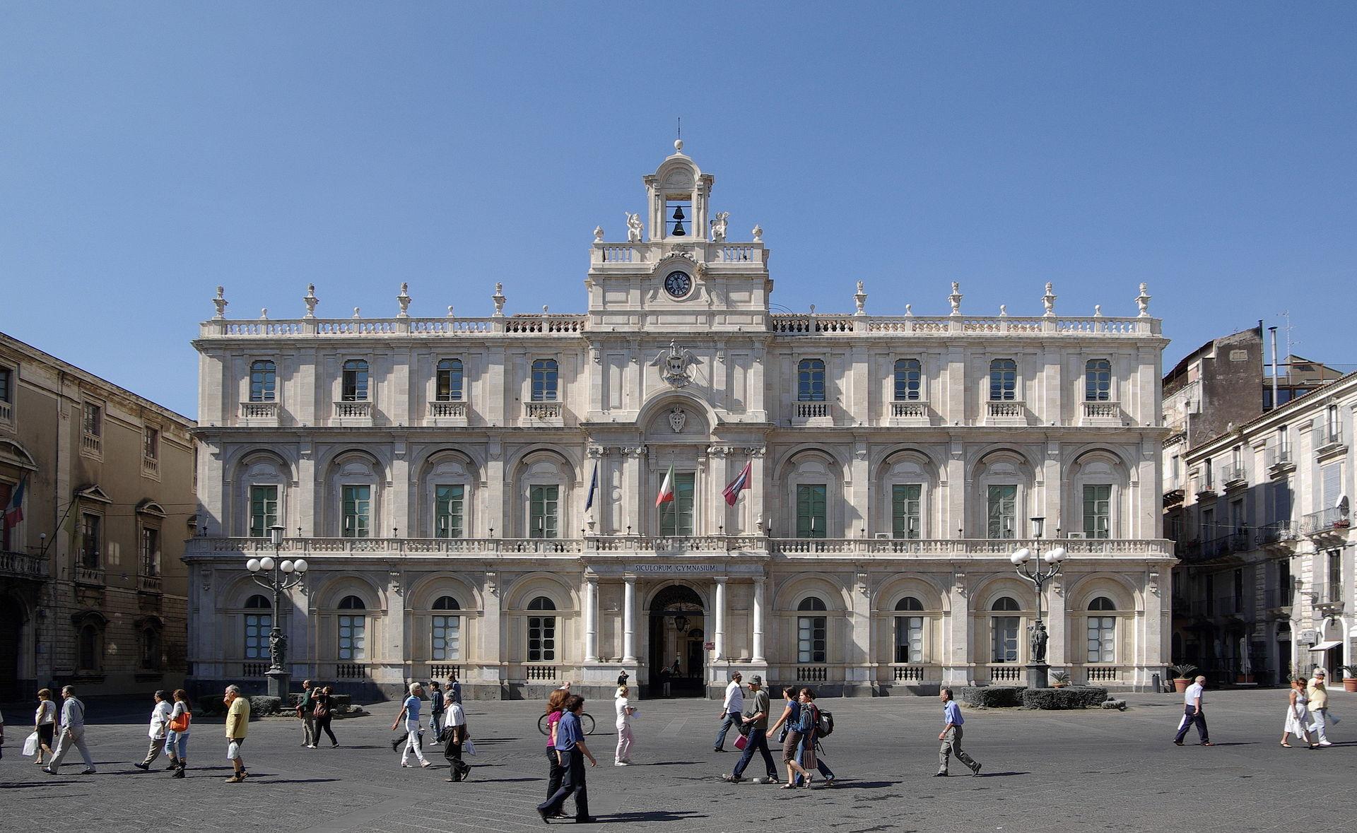 La sede centrale dell'Università di Catania