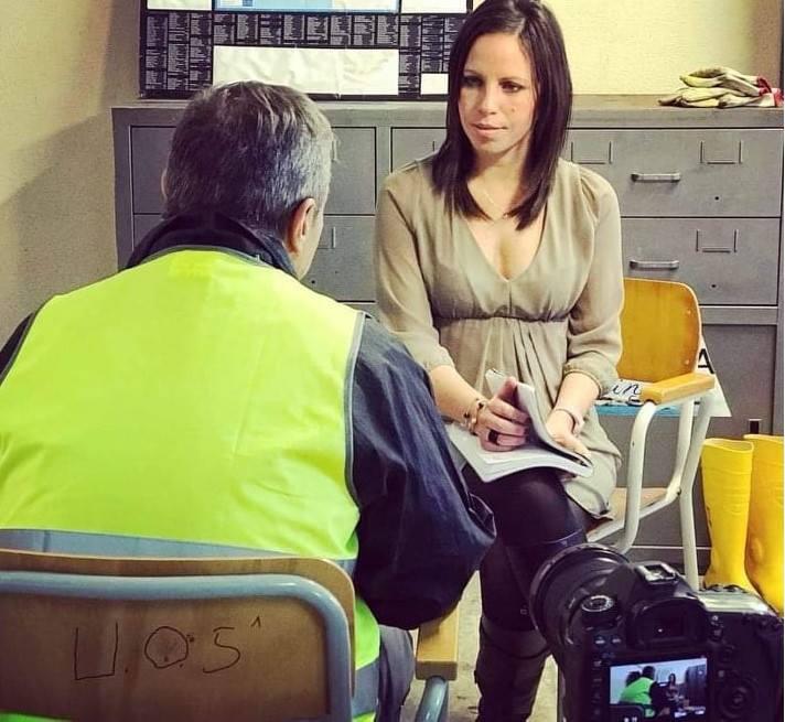 Vis a vis di Katya Maugeri con un altro degli intervistati, foto di Alessandro Gruttadauria