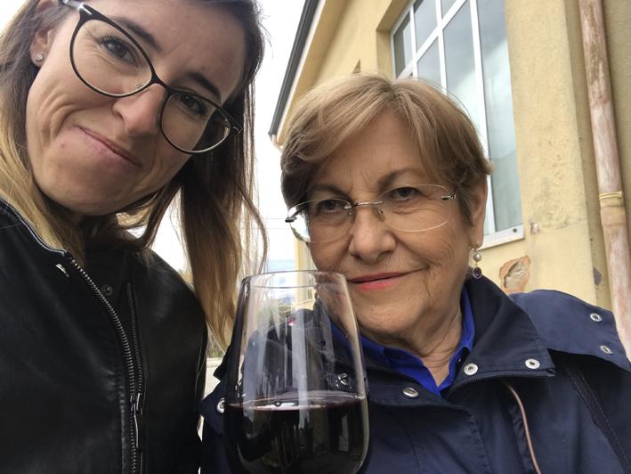 Roberta Sibani con la madre Claudia