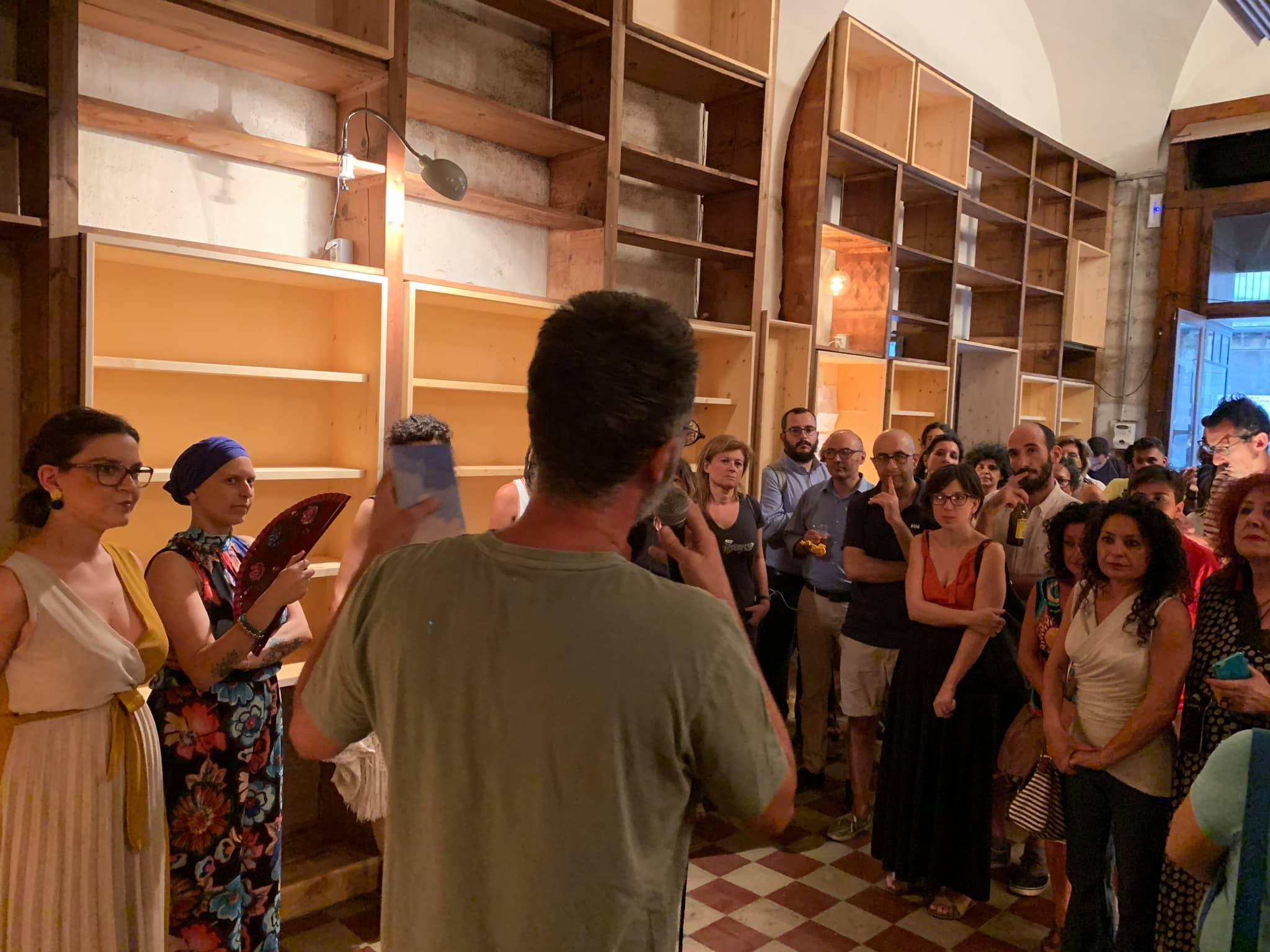 Le sorelle Sciacca e Marco Terranova presentano il cantiere Prampolini, lo scorso 17 luglio