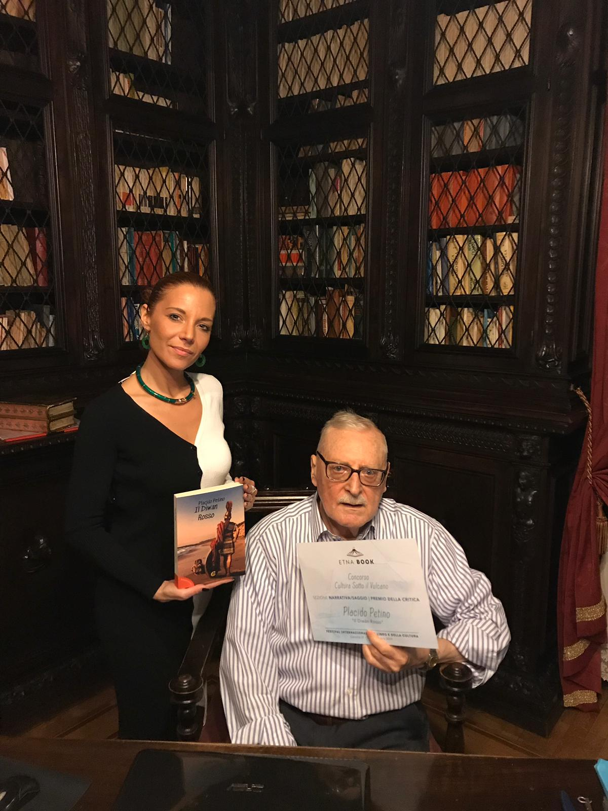 Placido Petino con l'agente letteraria Michela Tanfoglio -  Igor photo