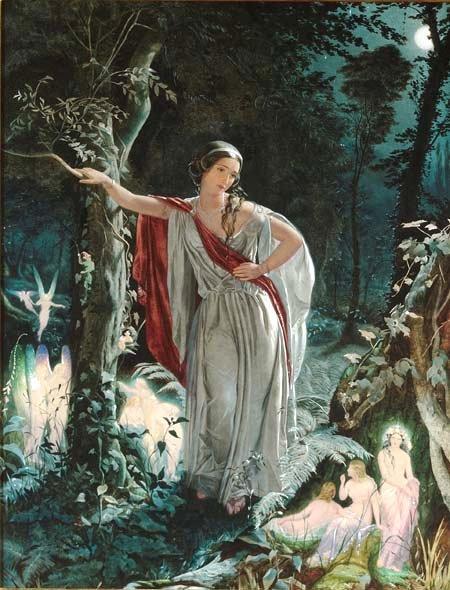 I sogni del Bardo: Ermia e le fate, John Simmons, 1861
