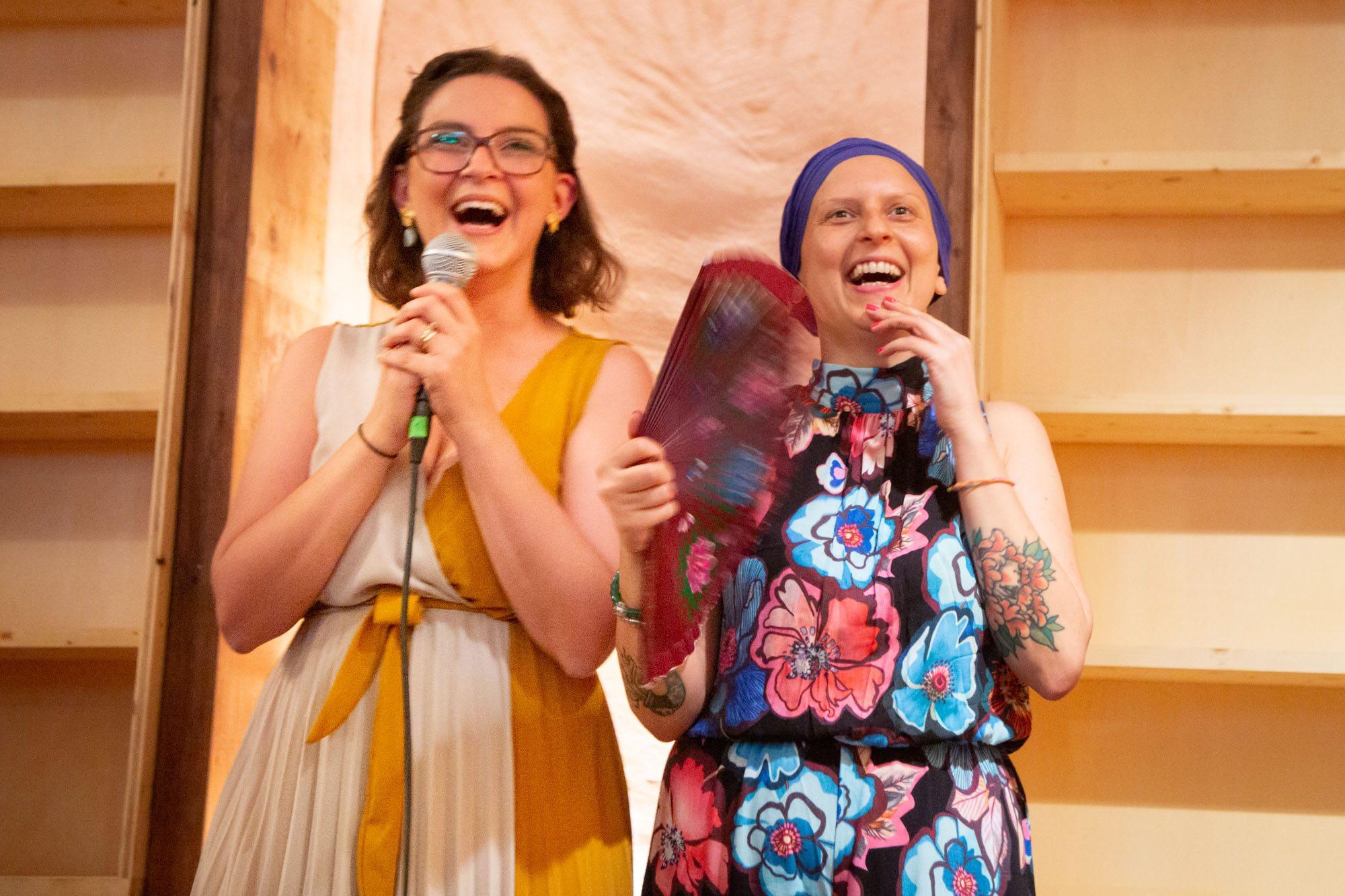 Angelica e Maria Carmela Sciacca durante la presentazione del cantiere
