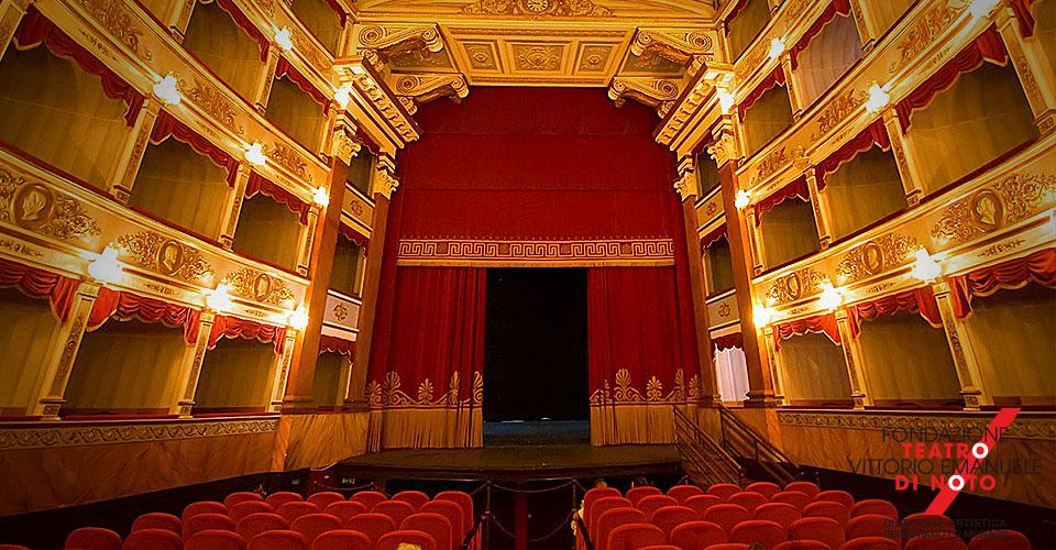 L'interno del teatro di Noto