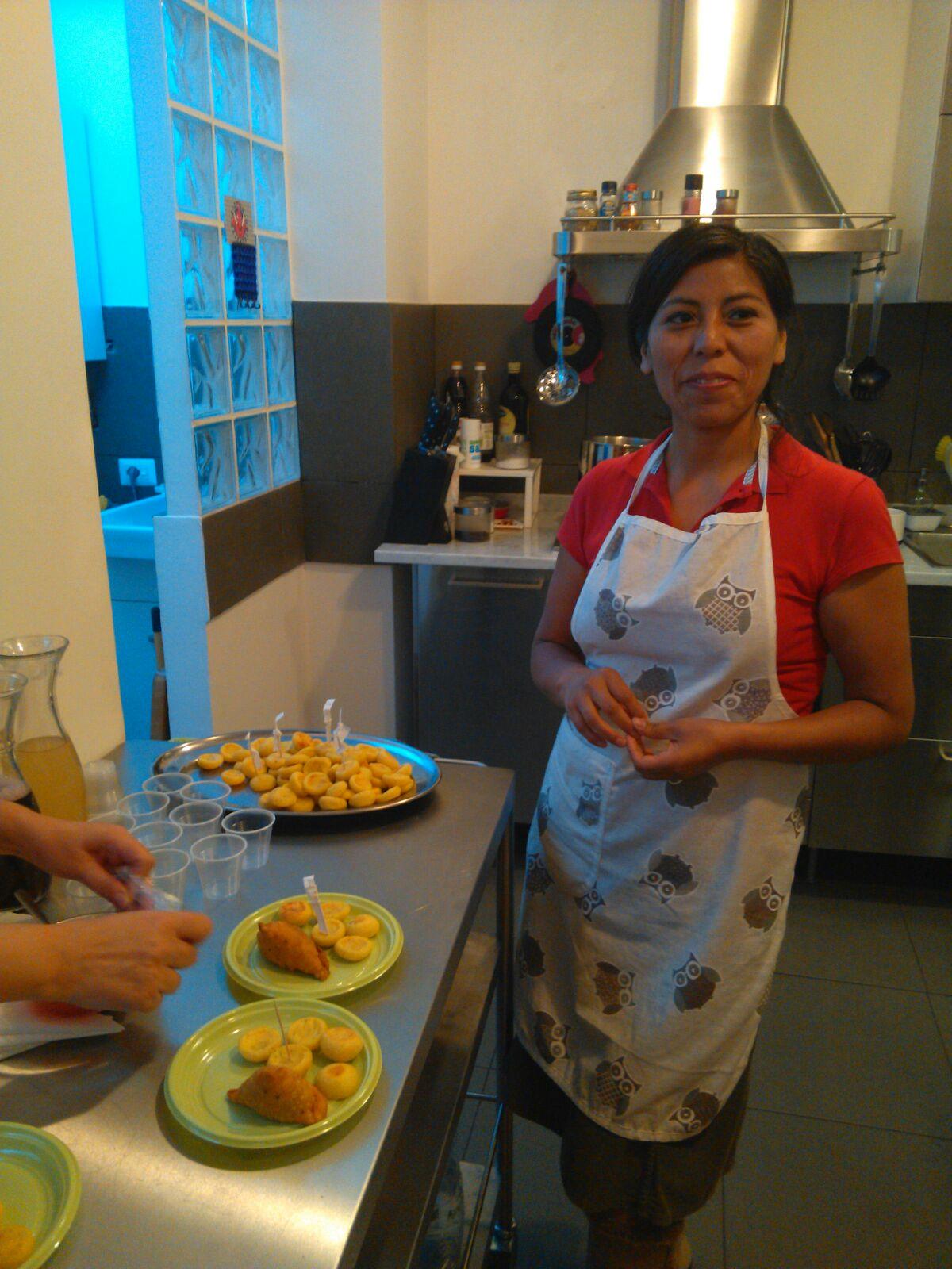 Sonia, peruviana, cuoca dell'Isola Quassud Home Restaurant, foto Renarossa