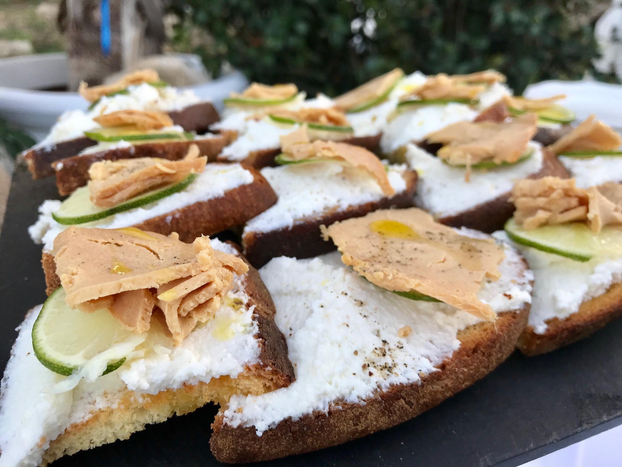 Un esempio di degustazioni con le specialità siciliane