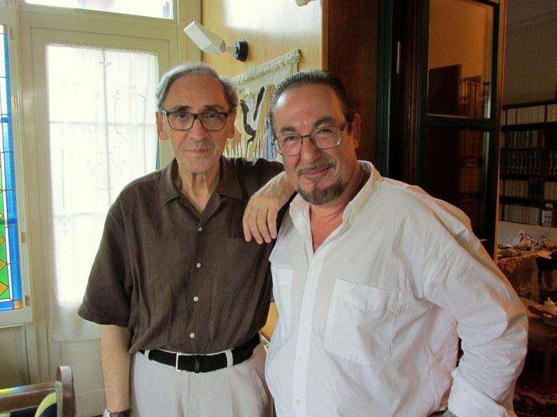 Franco Battiato e Guerrera a casa del cantautore a Milo