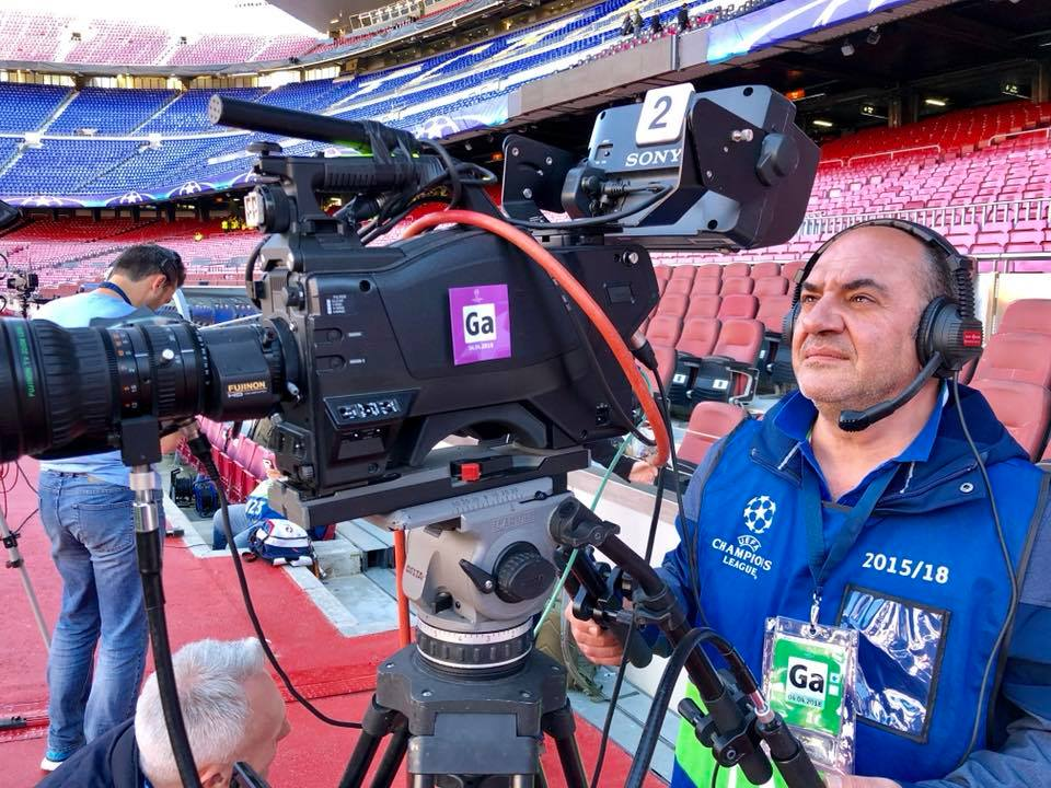 Troupe di Videobank al Camp Nou di Barcellona per la Champions' League