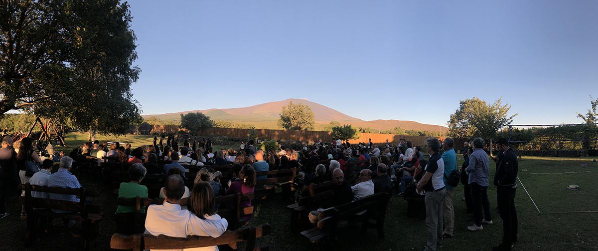 Uno spettacolo realizzato nel 2018 all'azienda agricola Musa di Bronte