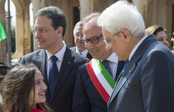 Visita del Presidente Mattarella alla Cattedrale di Noto