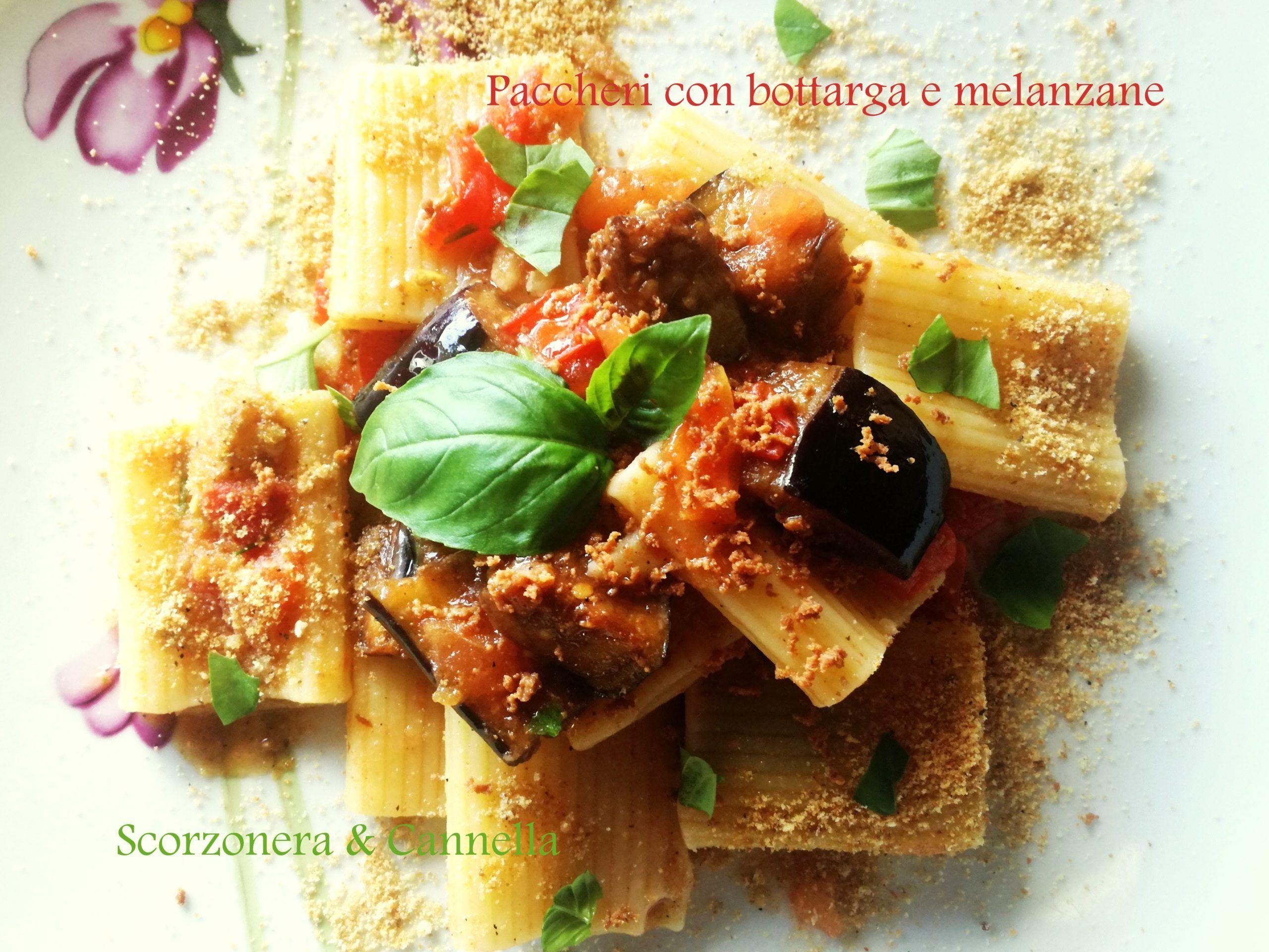 Paccheri con bottarga e melanzane di Scorzonera&Cannella
