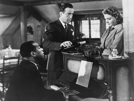 "Dooley Wilson, Humprey Bogart e Ingrid Bergman in ""Casablanca"""