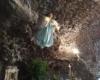 L'angelo della grotta vulcanica nel Presepe della Timpa di Acireale, foto Salvo Fallica