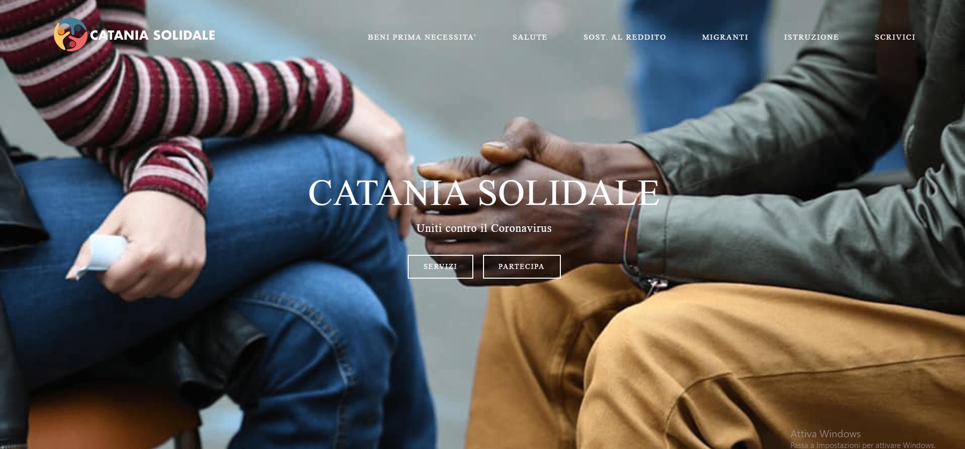 Cataniasolidale.it, il portale per aiutare chi ha bisogno (o farsi aiutare) durante l'emergenza Covid-19