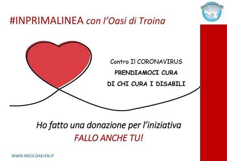 Oasi di Troina crowdfundunding Coronavirus