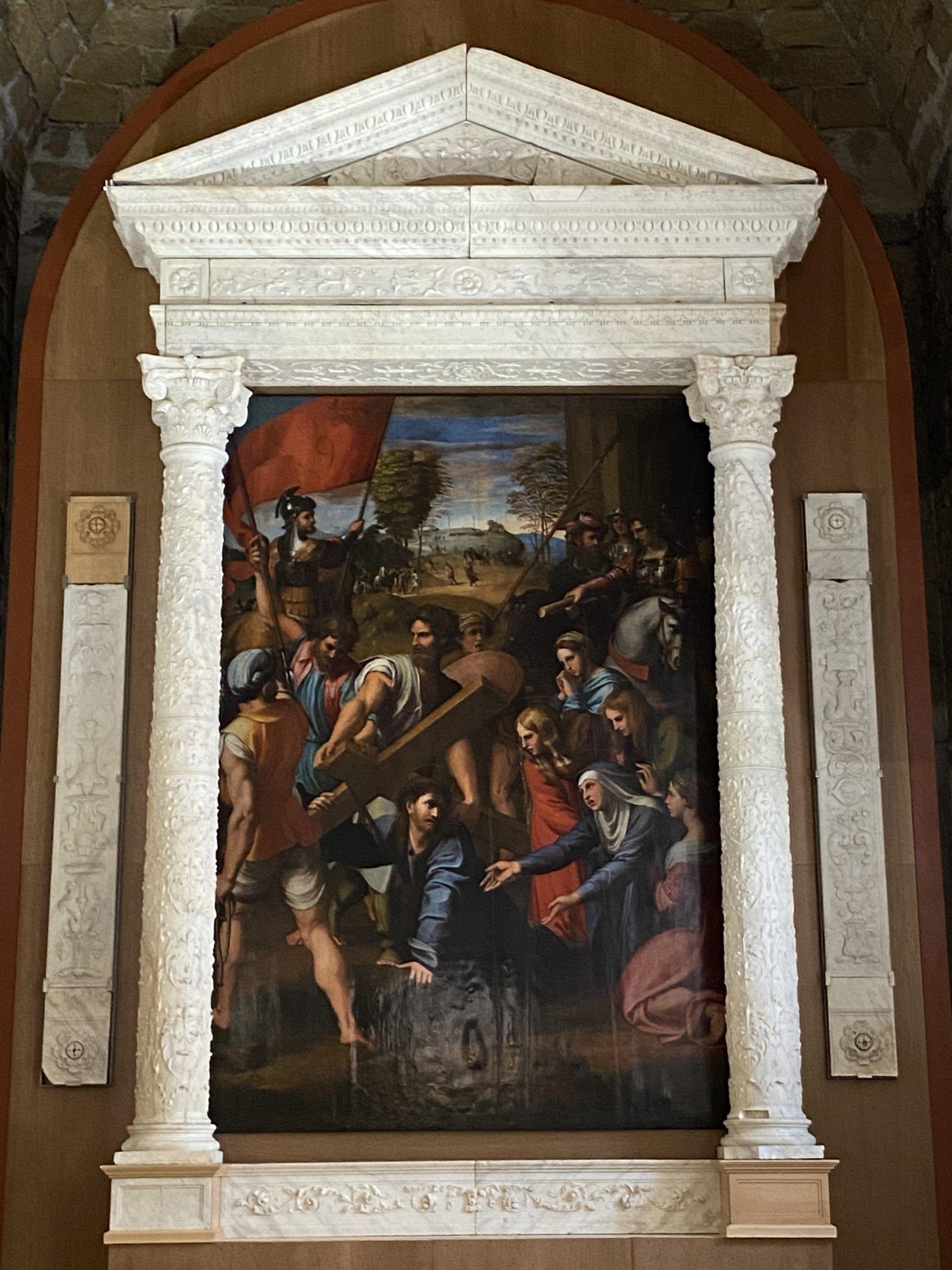 Allo Spasimo di Palermo rinasce l'altare del Gagini con la riproduzione della tela di Raffaello