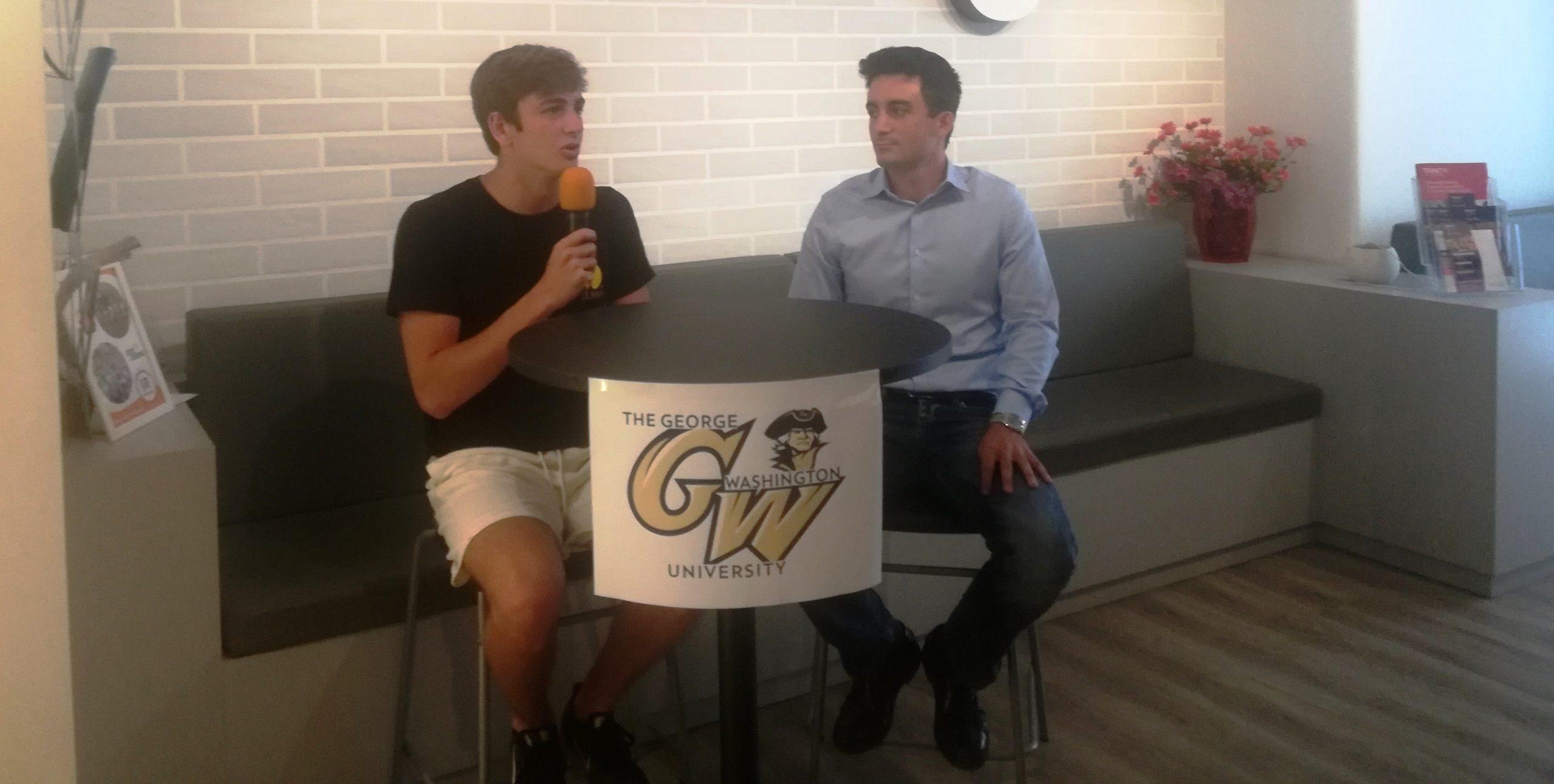 Il pallanuotista catanese Luca Castorina inizia l'avventura alla George Washington University