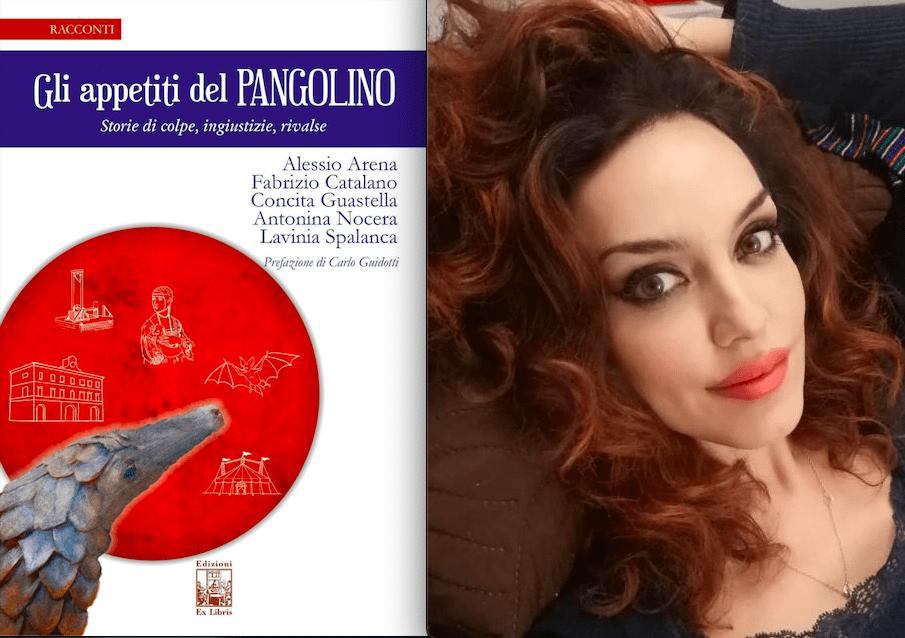 Cover e Antonina Nocera, una delle cinque 'penne della raccolta sul pangolino
