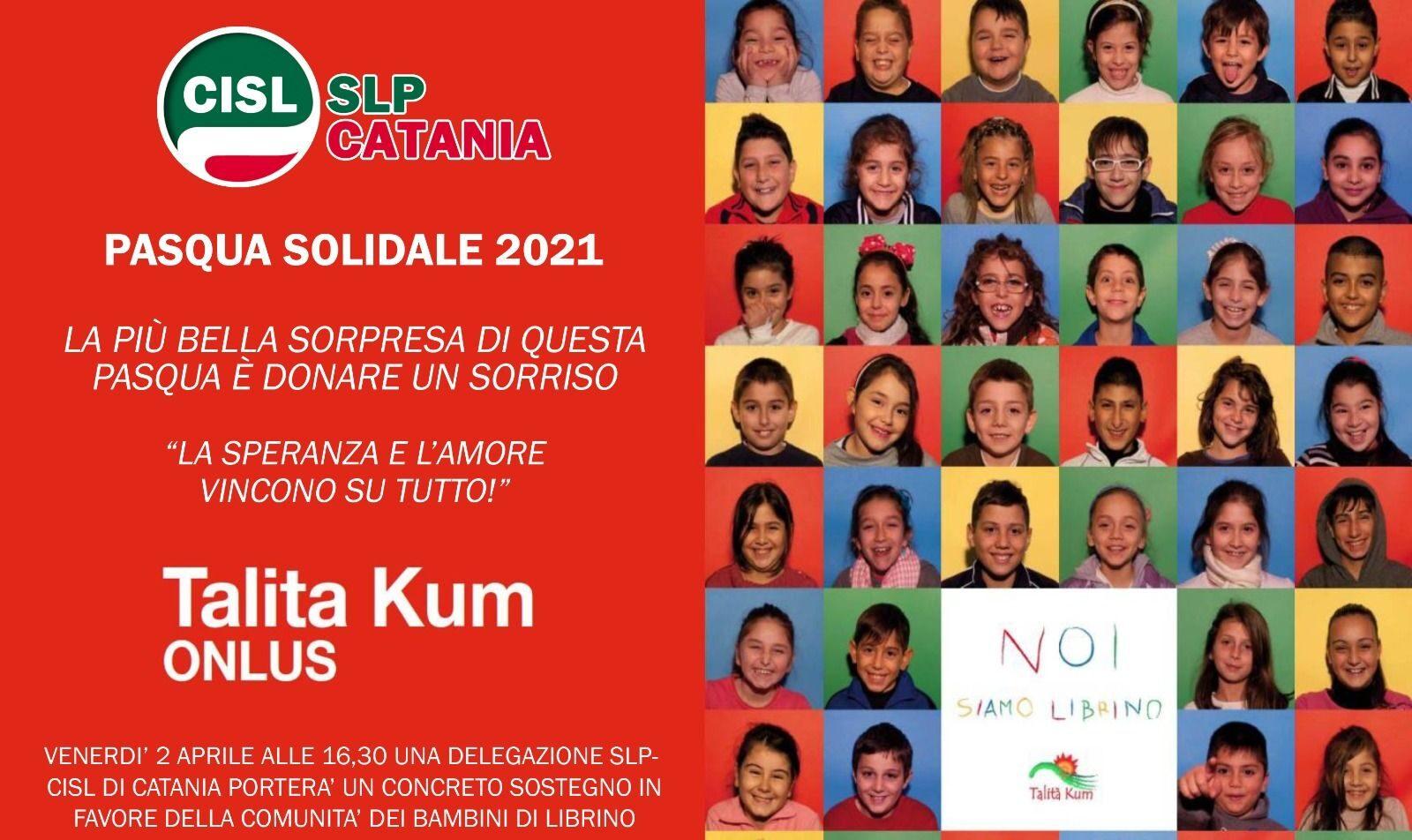 La Pasqua solidale della Cisl Poste di Catania a favore dei bambini di Talita Kum
