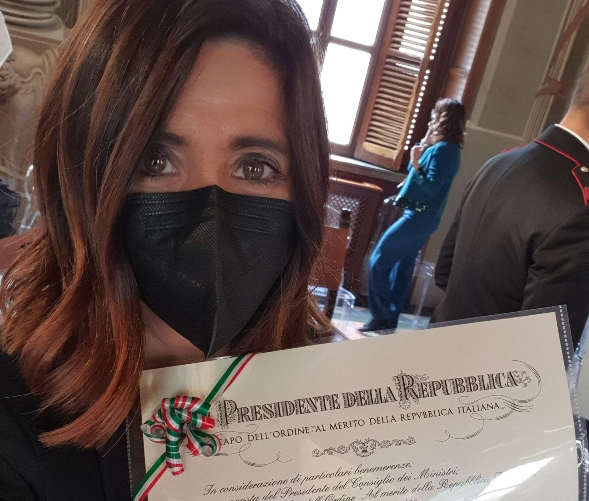 """Alla pianista Giuseppina Torre l'Onorificenza di Cavaliere dell'ordine """"Al Merito della Repubblica Italiana"""""""