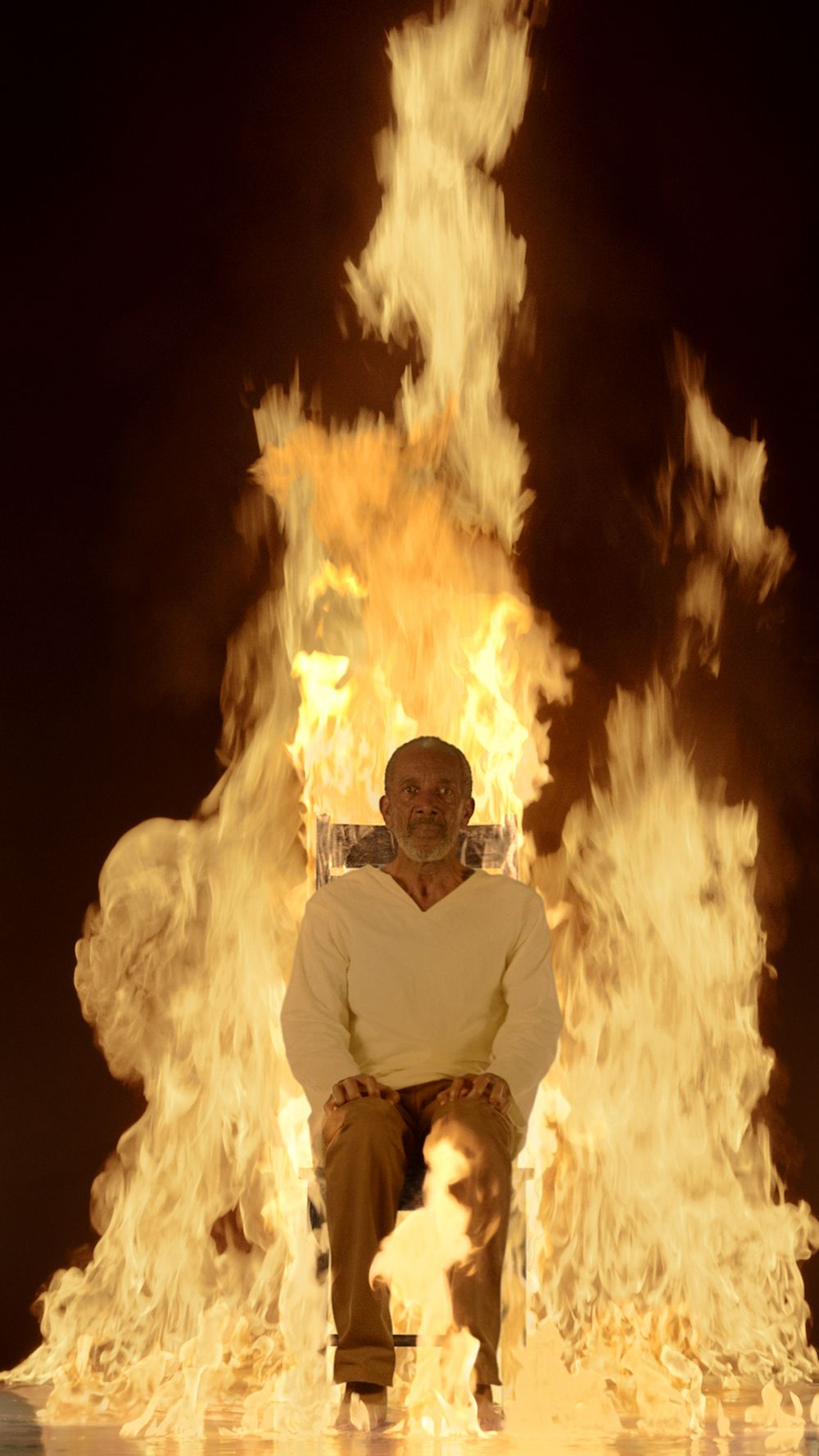 Martyrs Fire, foto di Bill Viola Works ©️2021 Bill Viola Studio