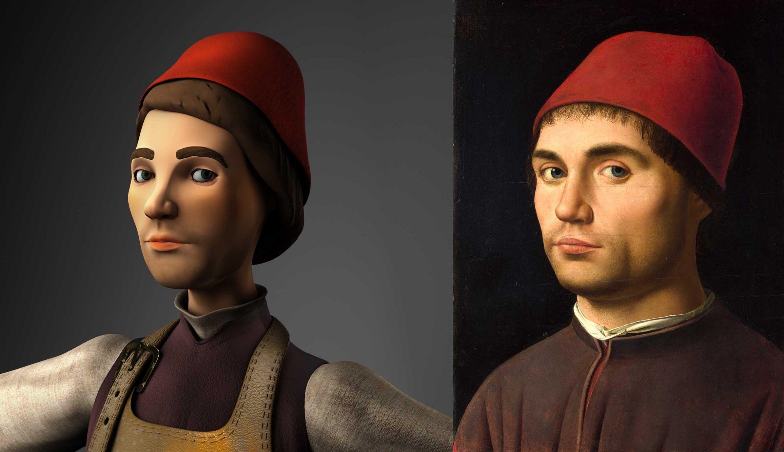 A spasso nel mondo dell'arte con l'avatar di Antonello da Messina